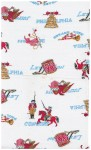 This fabric has all of the famous symbols and places from the Revolutionary War!