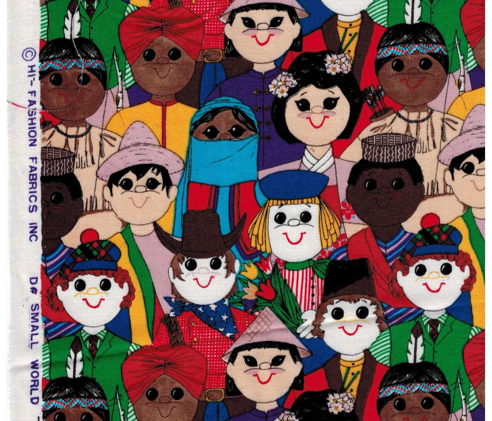 Hi fashion fabrics small world international children for Children of the world fabric