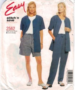 McCalls Pattern 2562 Stitch and Save Easy to sew jacket 728fa6126