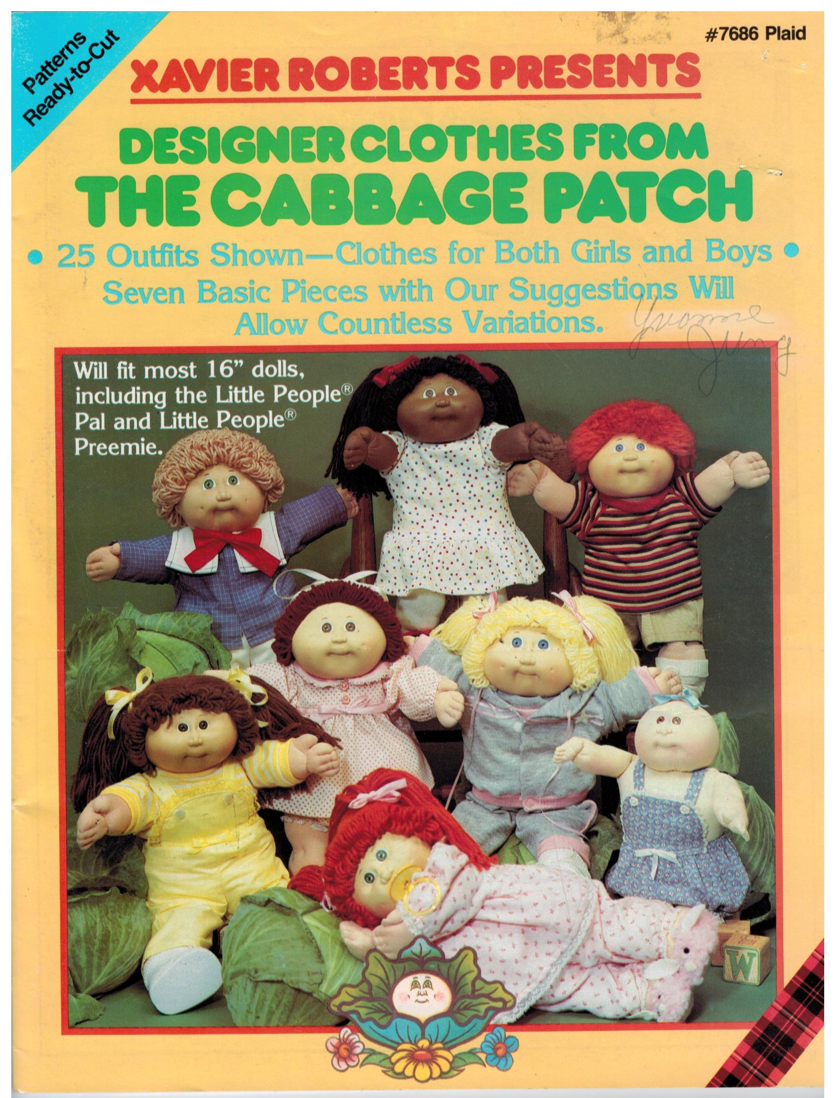 Cabbage Patch Kids Designer Clothes Book 25 Outfits For Cabbage Patch And Little People Dolls Sewing Pattern Heaven