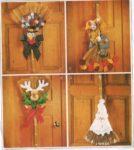 Fun broom door hangings for autumn through Christmas!