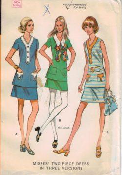 McCalls Pattern 2359 Vintage two piece dress in three versions e17c74b7c