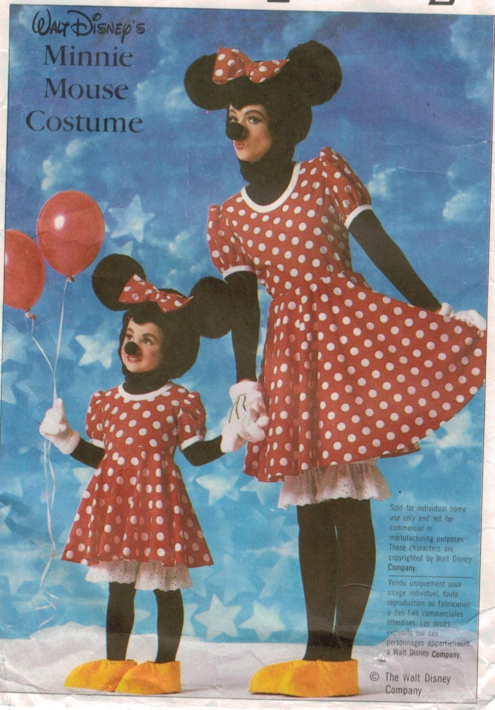 Simplicity Pattern 7730 Minnie Mouse Costume pattern for Misses size Medium