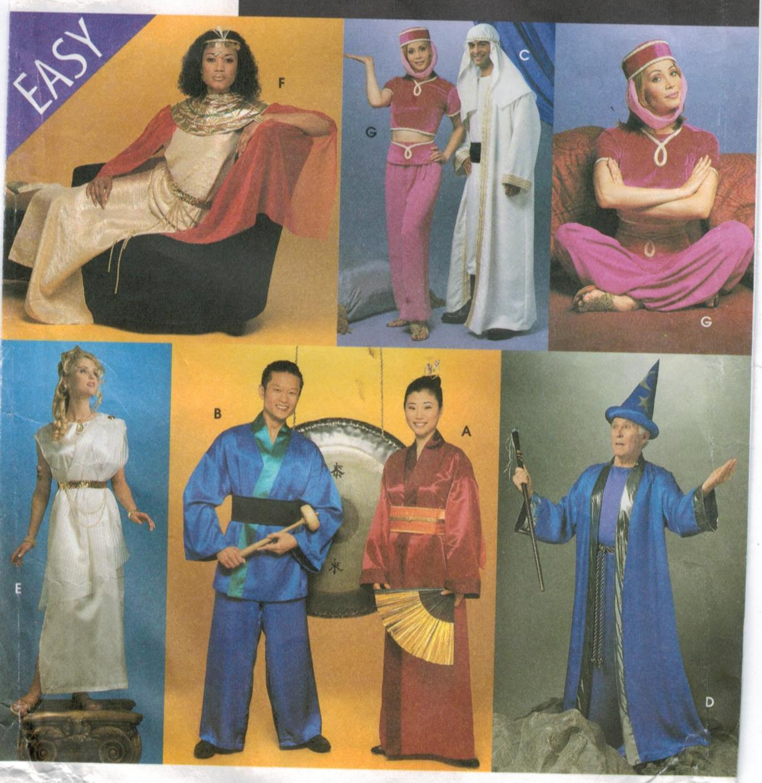 Simplicity Pattern 8311 Costumes for adults - Geisha, Egyptian, Genie,  Greek Goddess, Wizard