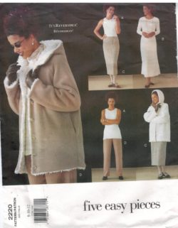 b045a9c1fdb Vogue Pattern 2220 Five Easy Pieces Separates – Reversible Hooded Jacket