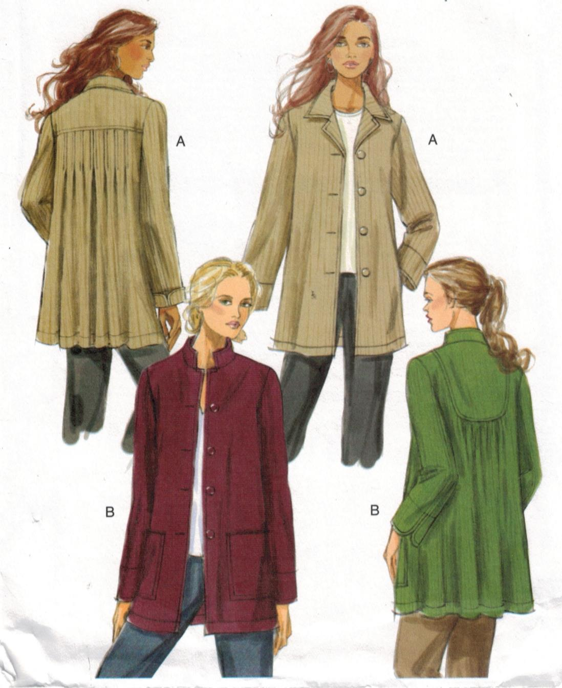 Butterick #5223 Loose-fitting Jacket w//Variations Pattern Sz 16-24 UC