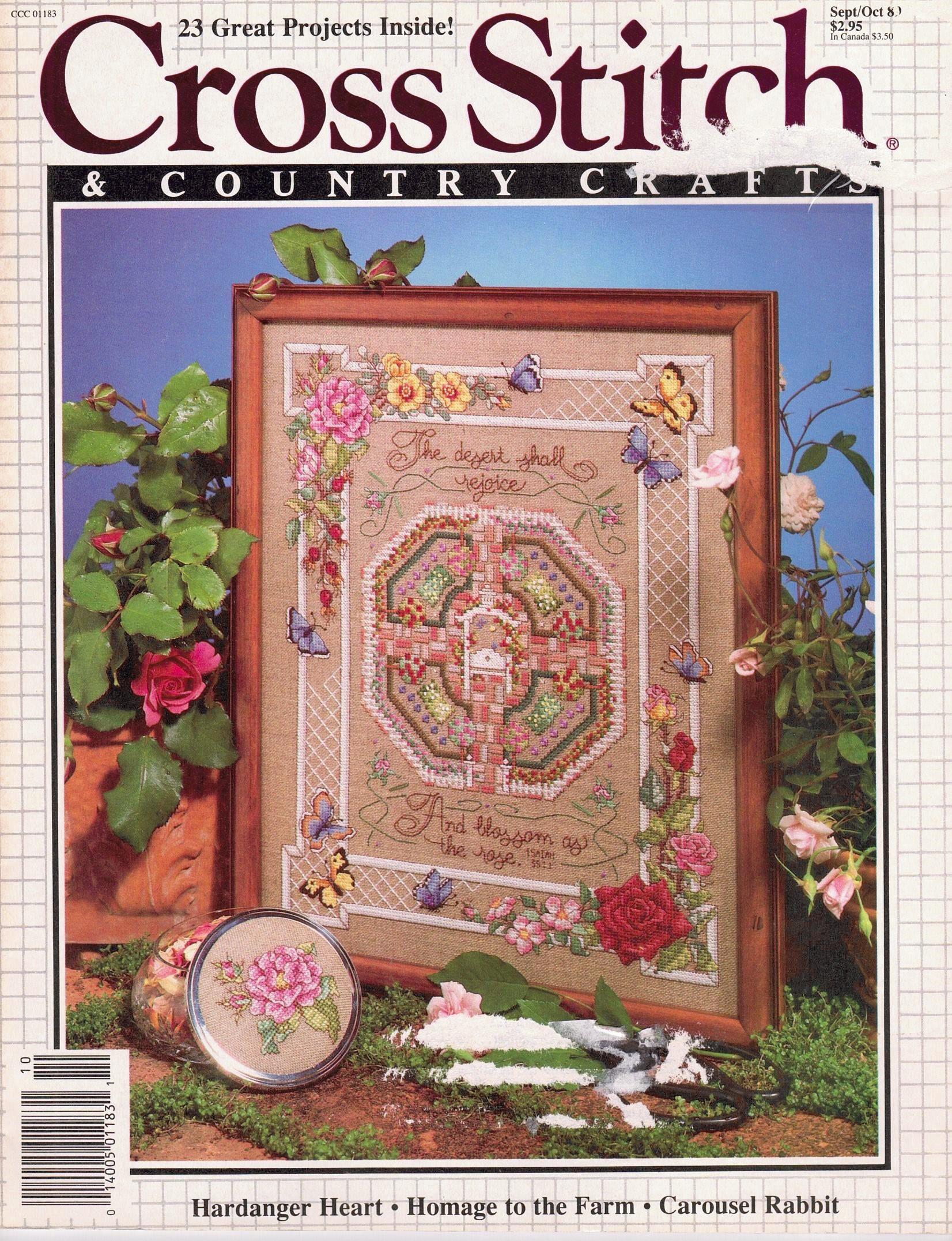 Cross Stitch And Country Crafts Cross Stitch Pattern Magazine SeptemberOctober 1987
